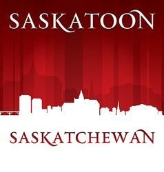 Saskatoon saskatchewan canada city skyline silhoue vector