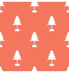 Seamless Christmas Tree Pattern on Red vector image vector image