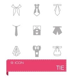 Tie icon set vector image vector image