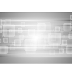 Grey tech squares background vector image