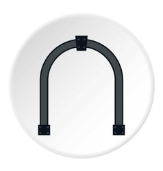 Steel arch icon flat style vector