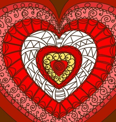 Ornament of hearts vector