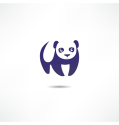 Panda bear logo vector