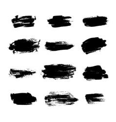 Grunge brushes background texture set vector