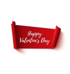 Happy valentines day red abstract banner vector