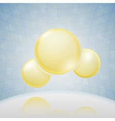 Science background yellow molecule vector