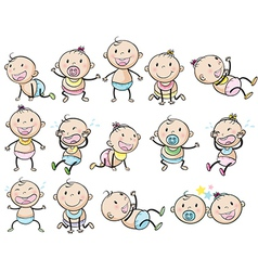 Playful babies vector