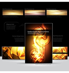 Fire document design rgb vector