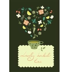 Cup of herbal tea vector