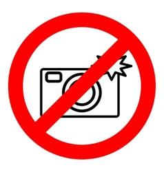 Sign prohibiting use of camera vector