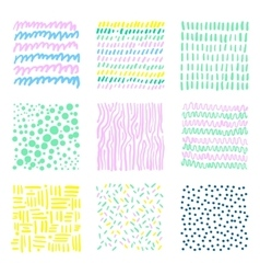 Set hand drawn textures vector
