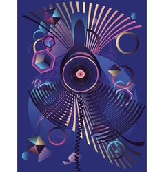 Stylized music poster3 vector