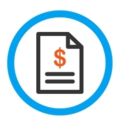 Invoice rounded icon vector