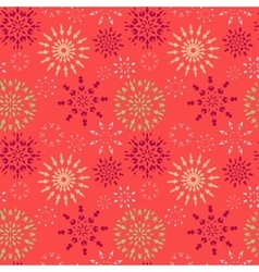 Christmas seamless pattern Red green white vector image