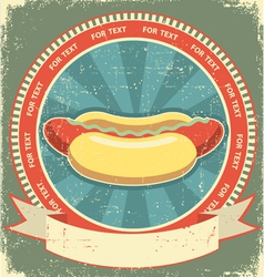 Hot dogs vintage vector