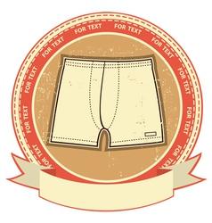 retro underwear label vector image