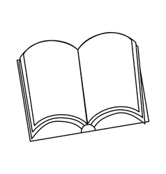 Open book icon outline style vector