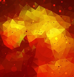 Red Abstract Triangle Background vector image
