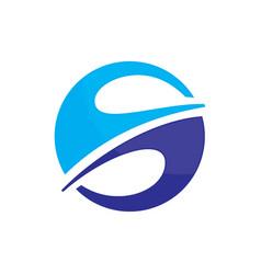 Abstract circle arrow business logo image vector