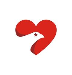 America usa logo love icon vector