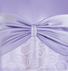 Background with curlicues ribbon and bow vector image