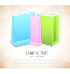 Background with shopping bags vector image