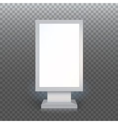 Blank advertising billboard vector image