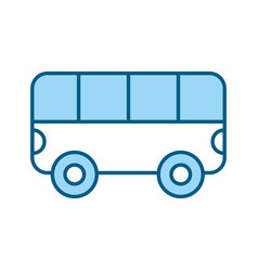 Blue bus cartoon vector