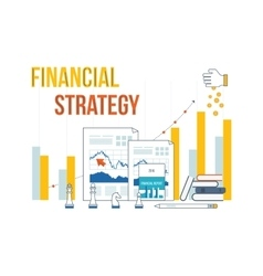 Business analysis financial report and strategy vector image vector image