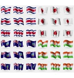 Costa rica japan montserrat niger set of 36 flags vector