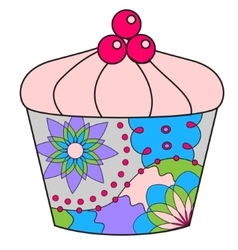 Cupcake colorful vector image vector image