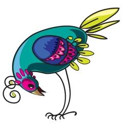Curious bird vector