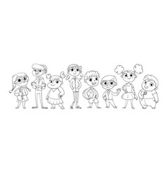 cute variety of children vector image vector image