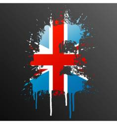 English pound grunge vector image