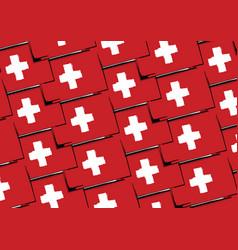 Grunge switzerland flag or banner vector