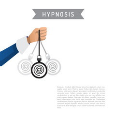 Hypnosis cartoon vector