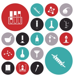 icons for chemical vector image vector image