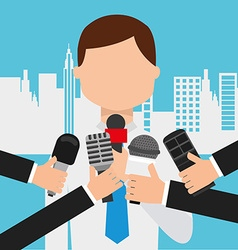 Interview concept vector