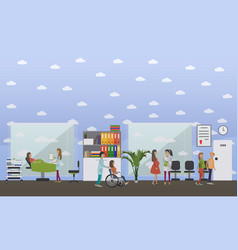maternity hospital concept in vector image vector image