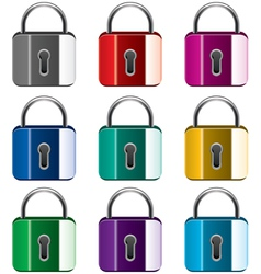 metal locks vector image vector image