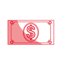 money billet isolated vector image vector image