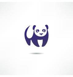 Panda Bear Logo vector image vector image