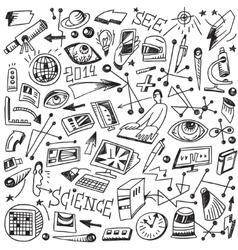 Science - doodles vector image vector image