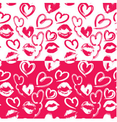 seamless pattern with brush strokes and scribbles vector image