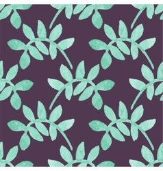 Seamless watercolor pattern with floral elements vector image