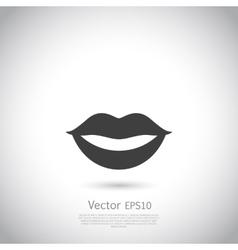 Sensual lips icon vector image