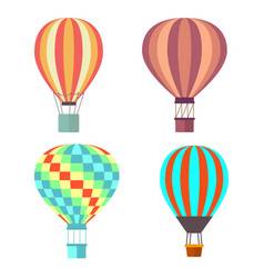 set classical balloons to travel by air vector image vector image