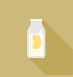 soy milk icon in carton vector image