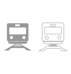train it is black icon vector image vector image