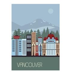 Vancouver canada vector